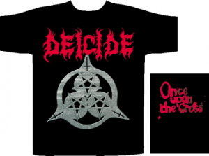 Deicide - Once upon the cross, T-Shirt schwarz