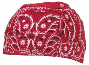 Headwrap paisley-rot
