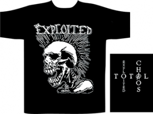 Exploited,The - Skull, T-Shirt schwarz