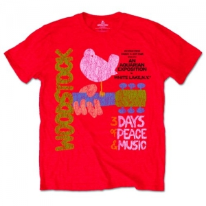 Woodstock - Classic Poster, T-Shirt rot