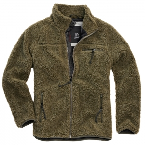 Teddy Fleece Jacke oliv