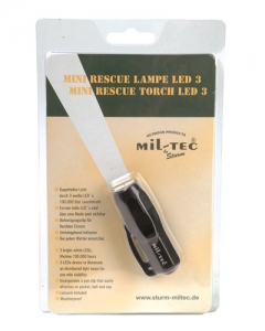 Mini Rescue Lampe 3 LED schwarz