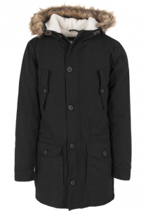 Sherpa Canvas Fishtail Parka schwarz