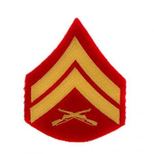 US Aufnäher Marines Corporal rot