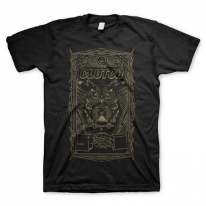Clutch - All Seeing Owl, T-Shirt schwarz