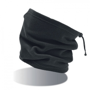 Fleece Rundschal schwarz