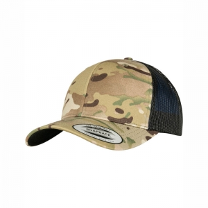 Flexfit Retro Trucker Cap multicam