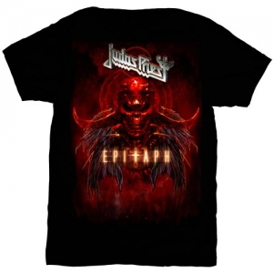 Judas Priest - Epitaph Red Horns, T-Shirt schwarz