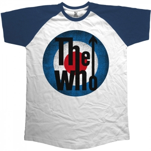 The Who - Vintage Target, Baseball Shirt weiß/blau