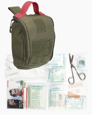 IFAK (Individual First Aid Kit) Pouch 25 tlg. Laser Cut oliv